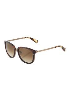 Lanvin Round Tortoiseshell Acetate/Metal Sunglasses