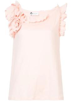 Lanvin rufffled neck blouse