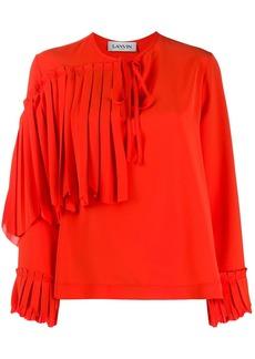 Lanvin ruffle front blouse