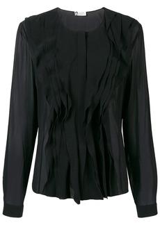 Lanvin ruffle-trim blouse