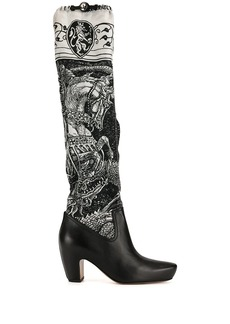 "Lanvin ""Saint George and the Dragon"" print boots"