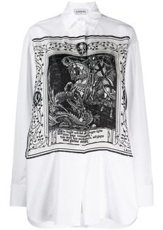 Lanvin Saint Georges and the Dragon print shirt