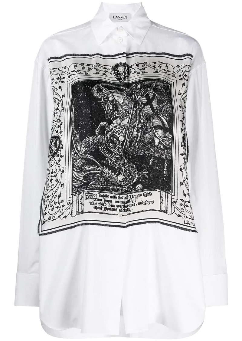 Lanvin Saint Georges and the Dragon print shirt