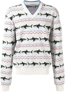 Lanvin shark intarsia knit jumper