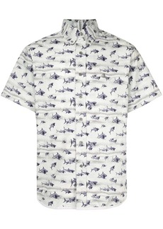 Lanvin sharks print shirt