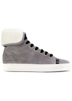 Lanvin shearling hi-top sneakers