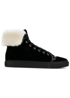 Lanvin shearling lined mid-top sneakers