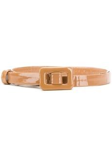Lanvin shiny leather buckle belt