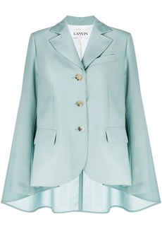 Lanvin single-breasted cape blazer