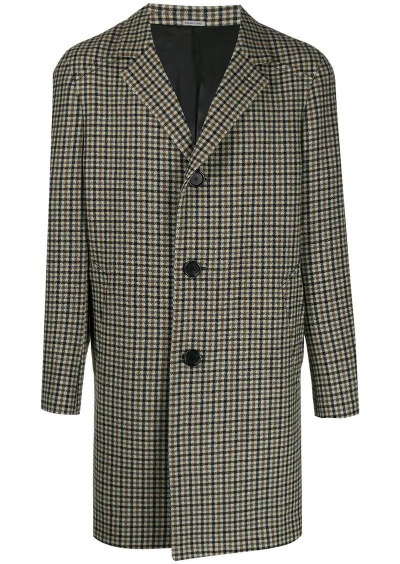 Lanvin single-breasted check coat