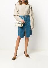 Lanvin slit denim skirt