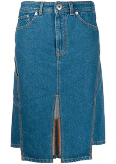 Lanvin slit denim skirt