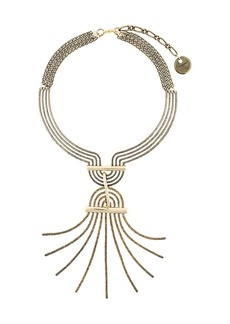Lanvin spiral spread necklace