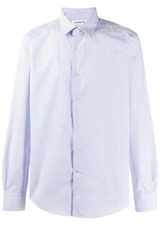 Lanvin spread collar striped shirt