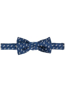 Lanvin stitch-detail silk bow tie