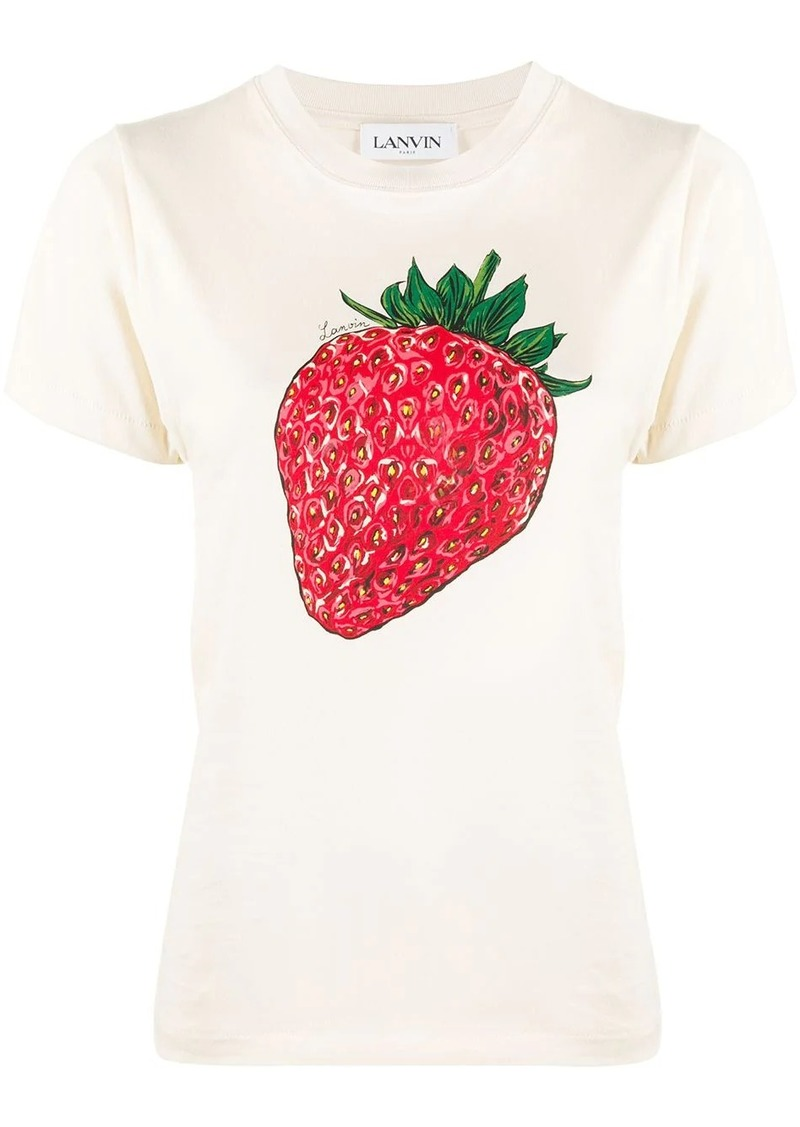Lanvin strawberry scented print T-shirt