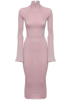 Lanvin Stretch Lurex Knit Midi Dress