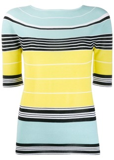 Lanvin striped knit top