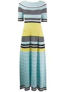 Lanvin striped long knitted dress
