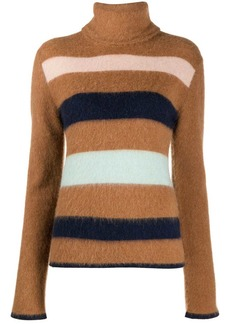 Lanvin striped turtleneck jumper