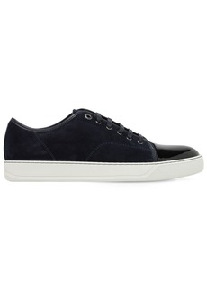 Lanvin Suede & Leather Low Top Sneakers