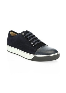 Lanvin Suede Low-Top Sneakers