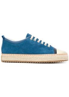 Lanvin suede platform sneakers