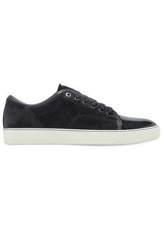 Lanvin Suede Sneakers W/ Shiny Toe