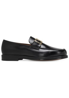 Lanvin Swan Leather Loafers
