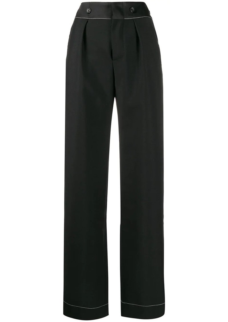 Lanvin tailored pleat detailed trousers