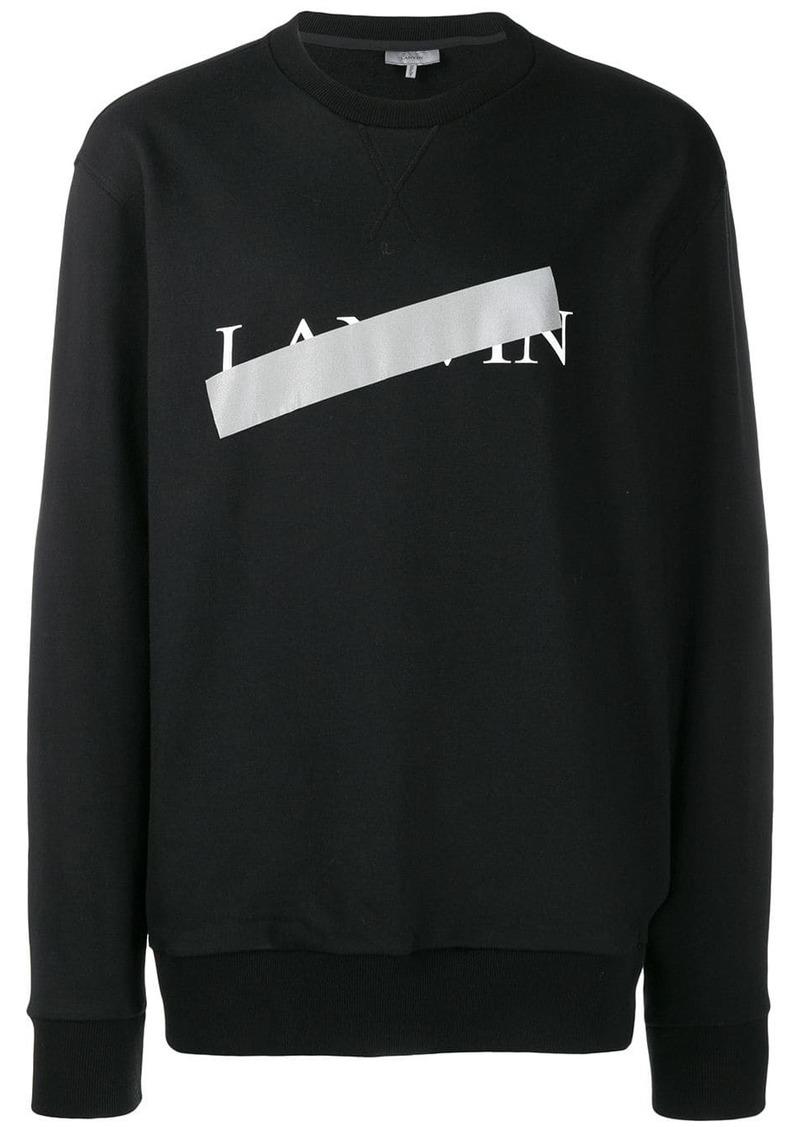 Lanvin taped logo sweater