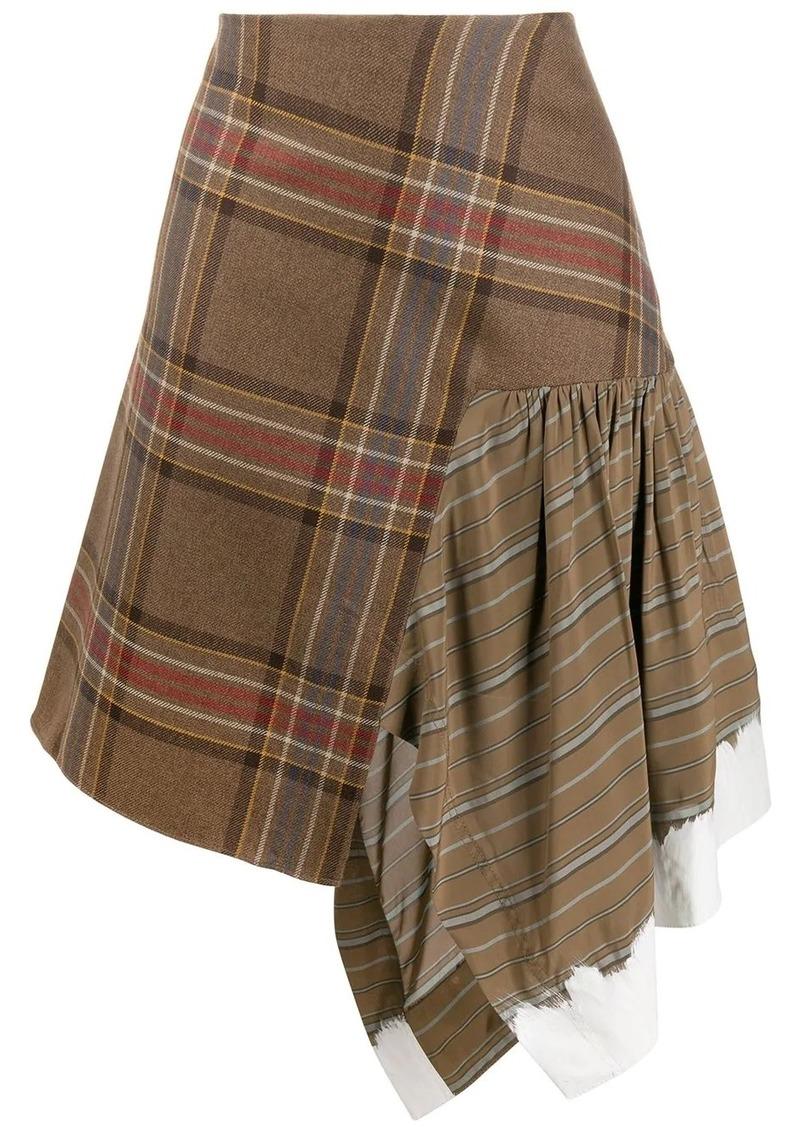 Lanvin tartan asymmetric skirt