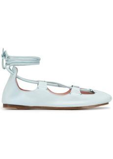 Lanvin tie ankle ballerina shoes