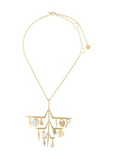 Lanvin tiered charm necklace