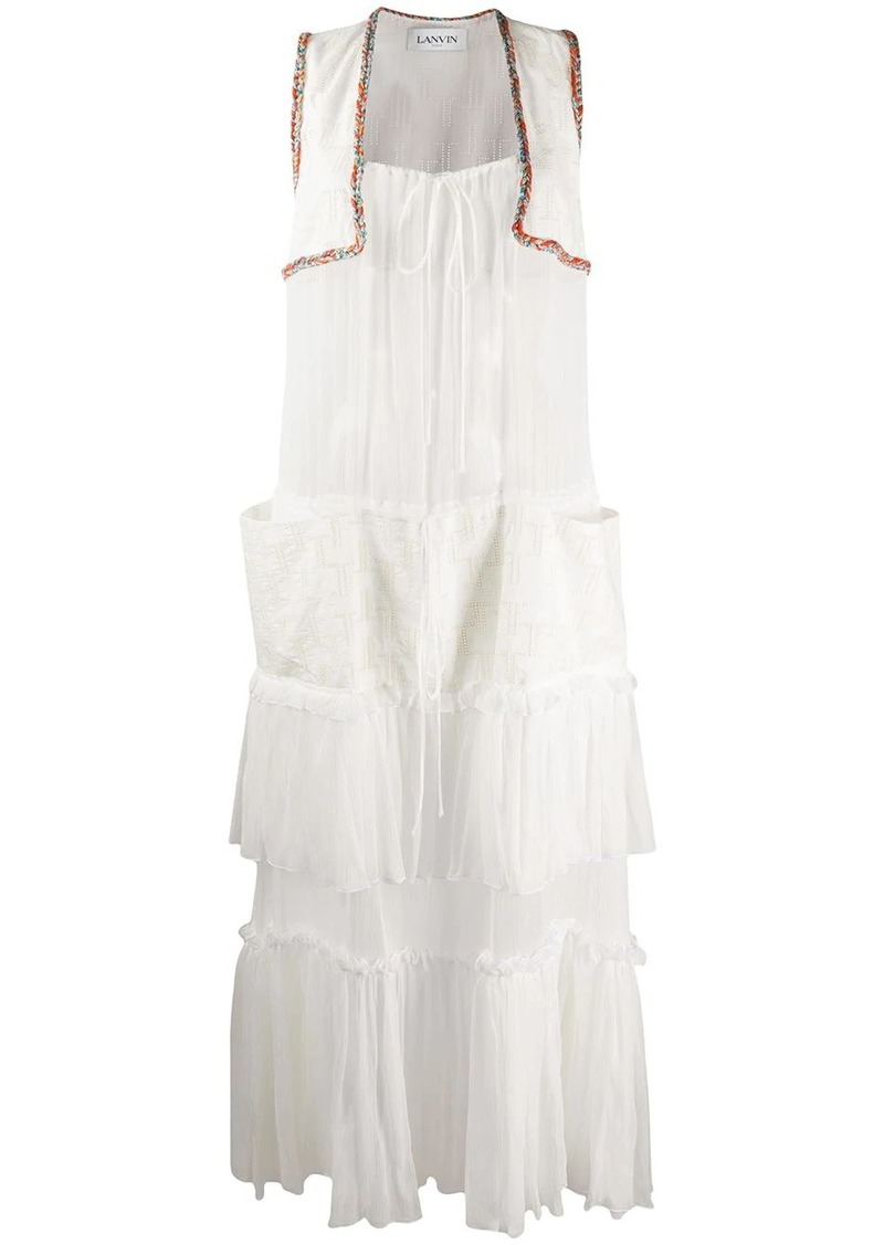 Lanvin tiered ruffle dress