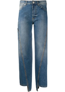 Lanvin twist-seam cropped jeans