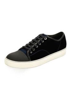 Lanvin Velvet Cap-toe Low-Top Shoe