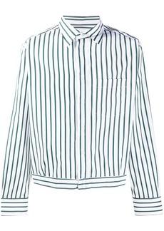 Lanvin vertical-stripe blouson shirt