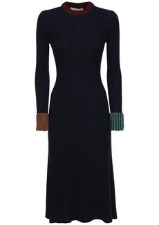 Lanvin Virgin Wool Blend Knit Midi Dress
