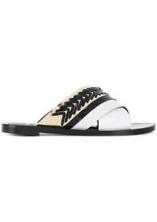 Lanvin whipstitch detail sandals