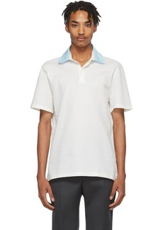 Lanvin White Grosgrain Polo