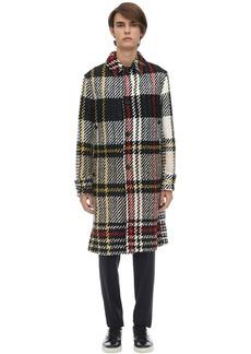 Lanvin Wool Blend Jumbo Check Coat