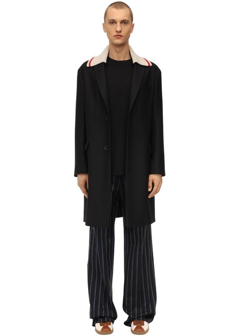 Lanvin Wool Coat W/ Detachable Collar