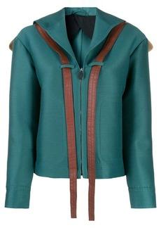 Lanvin zipped V-neck panelled jacket