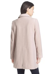 Larry Levine A-Line Babydoll Coat (Regular & Petite)