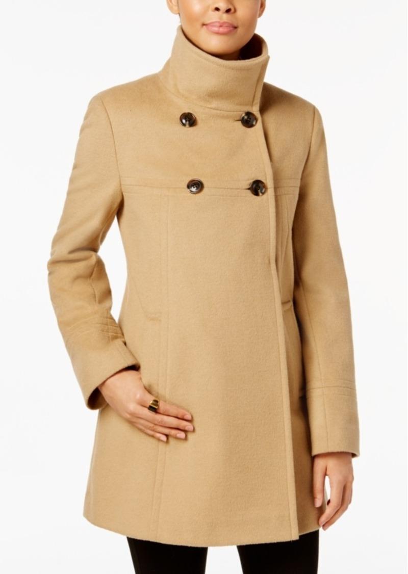 Larry Levine Double-Breasted Walker Coat