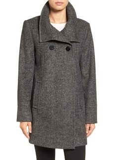 Larry Levine Double Breasted Swing Coat