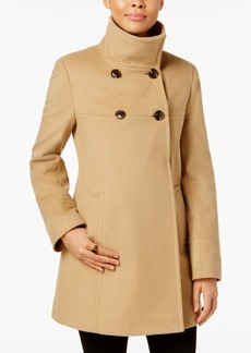 Larry Levine Double-Breasted Walker Coat