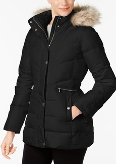 Larry Levine Faux-Fur-Trim Puffer Coat