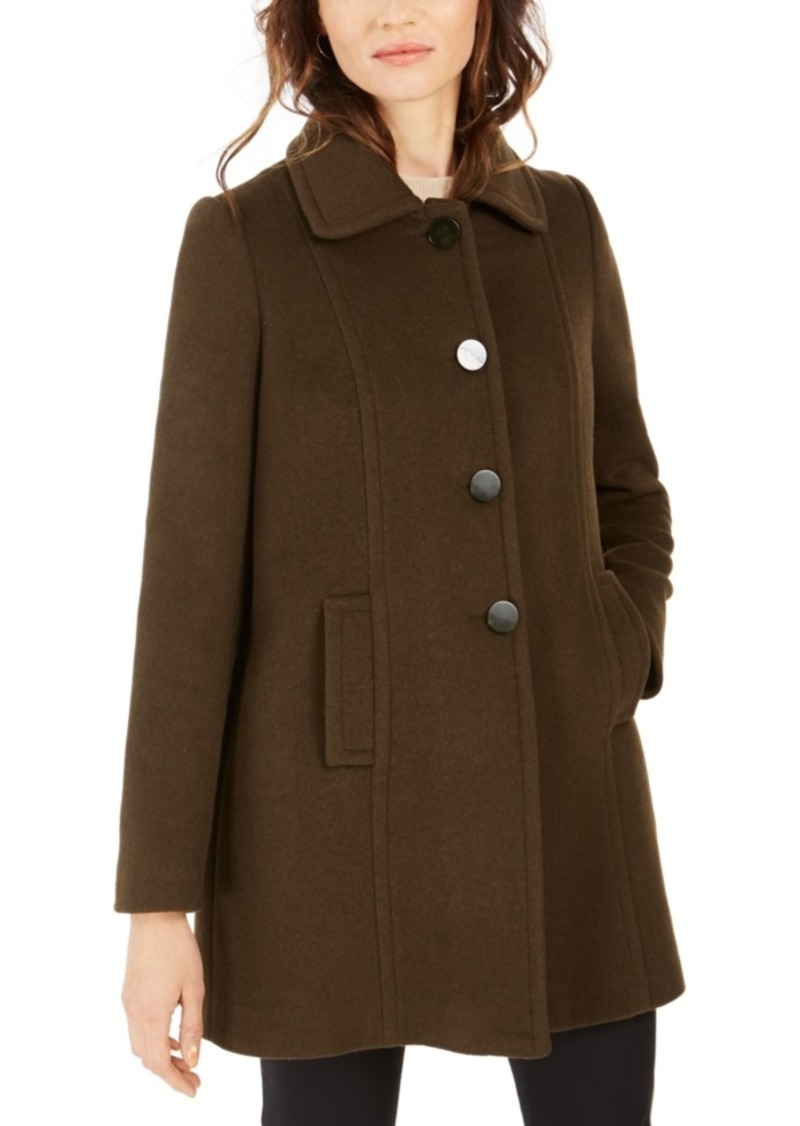 Larry Levine Single-Breasted A-Line Coat